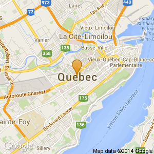 Small map for Quebec City location